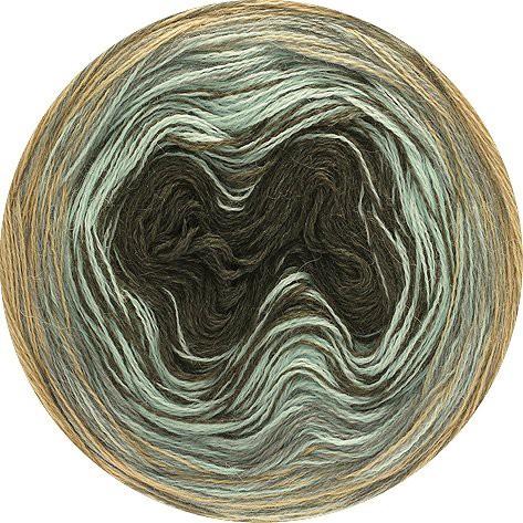 Wolle Kreativ Lana Grossa Shades of Alpaca Silk 312 rosa//türkis//graugrün 200 g