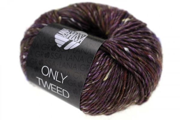 103 antikviolett//natur 50 g Only Tweed Wolle Kreativ Fb Lana Grossa