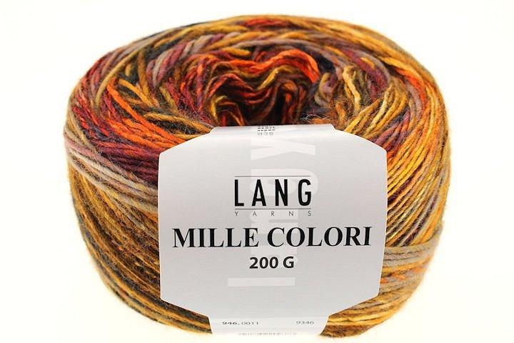 Lang Yarns Mille Colori 200g 6 LL 380m 200g Nadelstärke 6-7