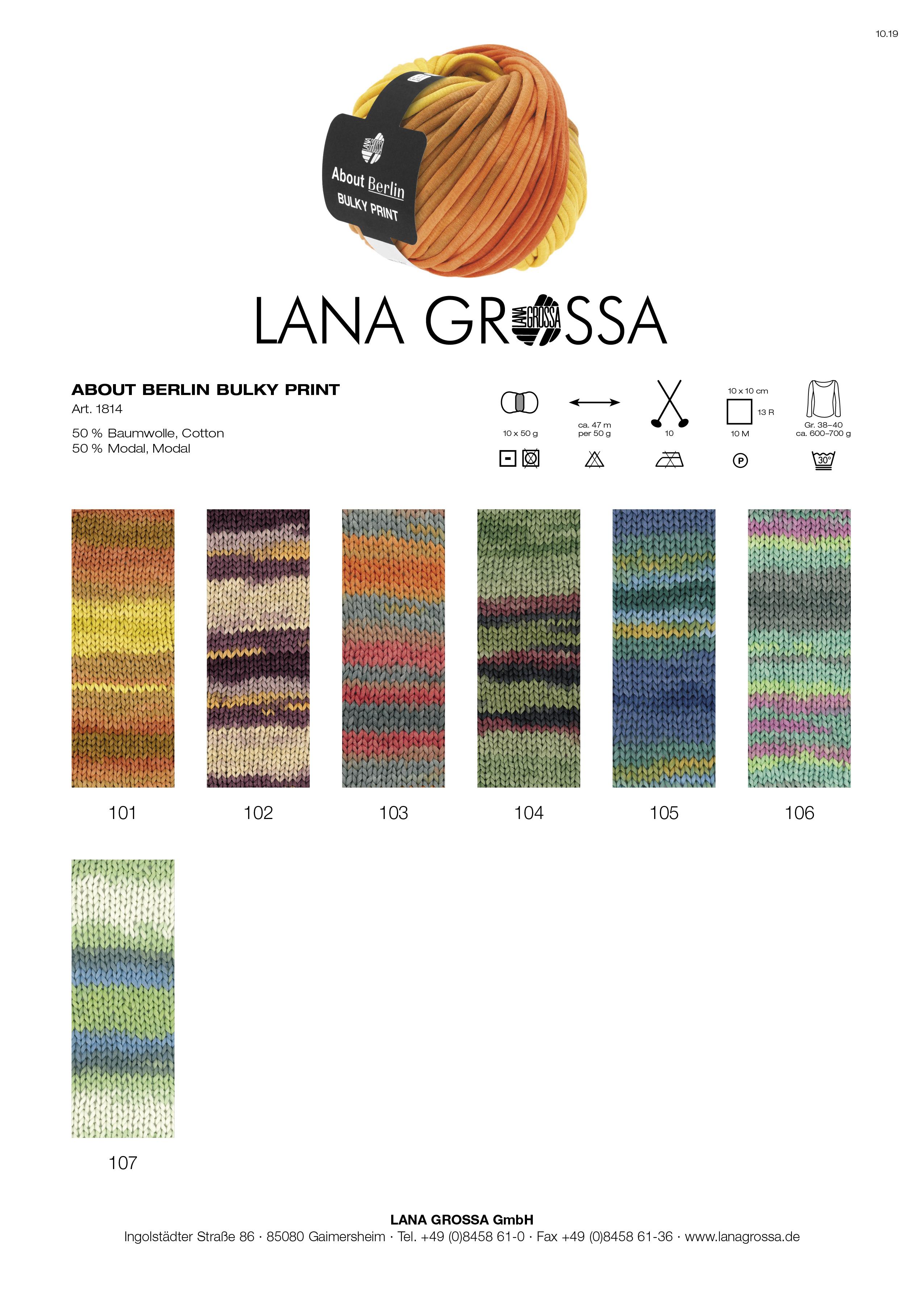 Wolle Kreativ Tunesische Häkelnadel Alu 5,0 Lana Grossa
