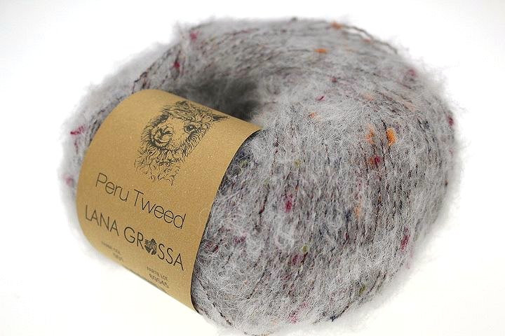 Peru Tweed Fb 12 brombeer 50 g Lana Grossa Wolle Kreativ